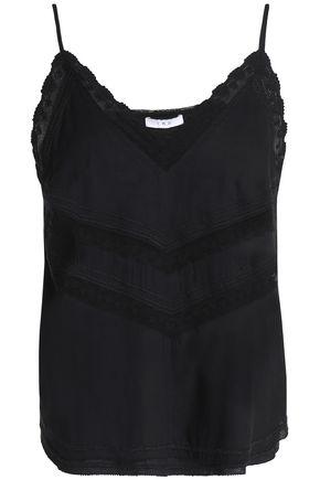 IRO Cloriane lace-trimmed voile camisole