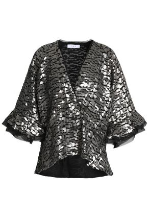 IRO Sequined-georgette top