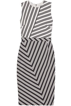 ALTUZARRA Desdemona striped wool-blend dress
