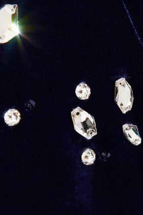 GABRIELA HEARST Geoffrey crystal-embellished velvet camisole