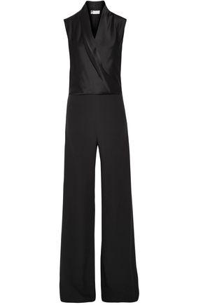 LANVIN Sable silk-satin and crepe jumpsuit