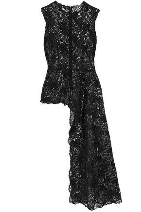 ALEXANDER MCQUEEN Asymmetric corded lace top
