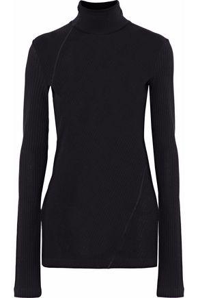 HELMUT LANG Ribbed-knit cotton turtleneck top