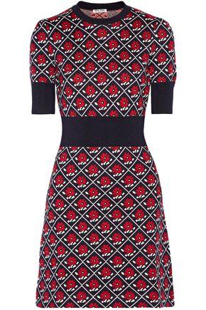 MIU MIU Intarsia wool mini dress
