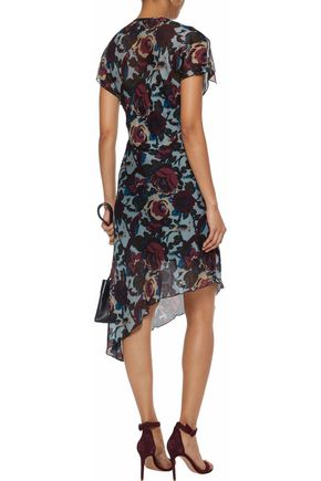 ANNA SUI Asymmetric printed crepe dress