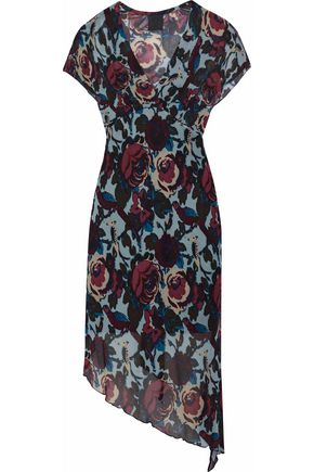 ANNA SUI Asymmetric printed crepe dress