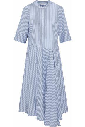 HOUSE OF DAGMAR Camilla asymmetric striped cotton-poplin shirt dress
