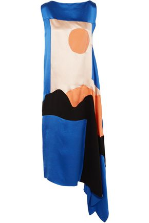 ROKSANDA Nakato hammered-silk, satin and crepe de chine midi dress