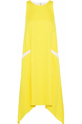 BADGLEY MISCHKA Asymmetric stretch-cotton dress