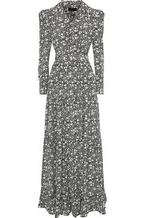 CO Belted floral-print silk maxi dress