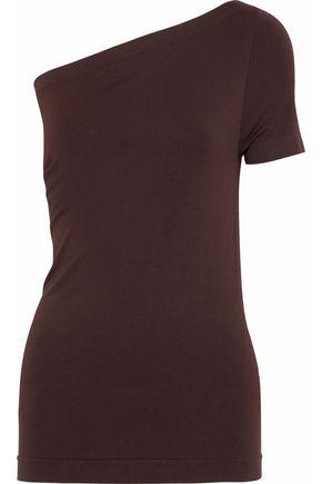HELMUT LANG One-shoulder stretch-knit top