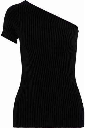 HELMUT LANG One-shoulder chenille top