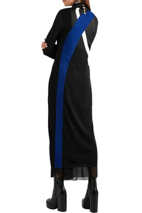 PROENZA SCHOULER Intarsia knitted turtleneck maxi dress
