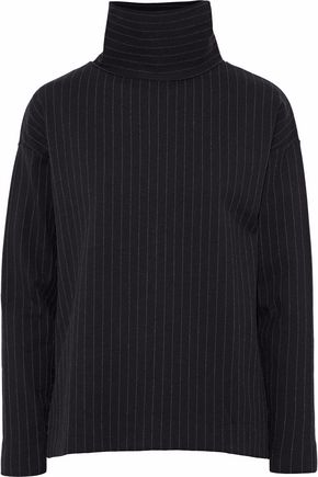 TOTÊME Pinstriped stretch-jersey turtleneck top