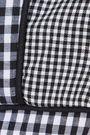 NICHOLAS Cropped paneled gingham cotton-poplin top