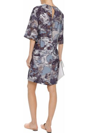 HOUSE OF DAGMAR Printed chambray mini dress