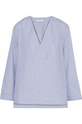 HOUSE OF DAGMAR Candice striped cotton-poplin shirt