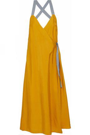 HOUSE OF DAGMAR Scarla printed poplin wrap midi dress