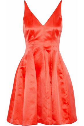 BADGLEY MISCHKA Flared satin mini dress