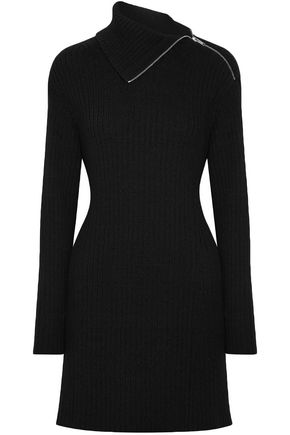 PROENZA SCHOULER Cutout ribbed wool-blend mini dress