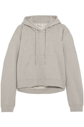 VETEMENTS Printed French cotton-blend terry hooded sweatshirt