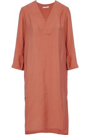 HOUSE OF DAGMAR Candice crinkled-poplin dress