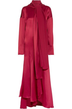 ROKSANDA Alida asymmetric silk-satin maxi dress