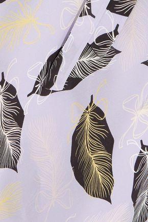 MIU MIU Printed silk maxi dress