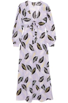 MIU MIU Printed silk maxi dress