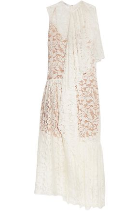 STELLA McCARTNEY Elen draped cotton-blend lace gown