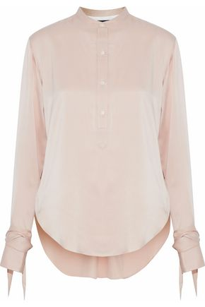 RAG & BONE Dylan cutout washed-silk shirt