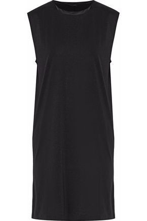 RAG & BONE Satin-trimmed jersey mini dress