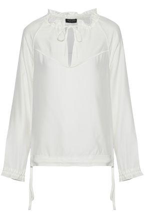 701da075fa373 RAG   BONE Bennett gathered silk-satin blouse