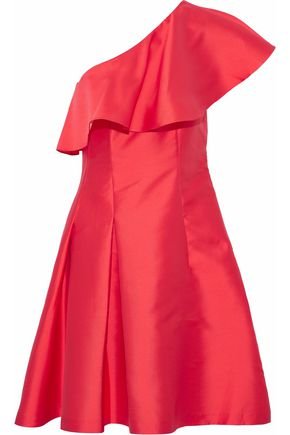 SACHIN & BABI One-shoulder ruffled taffeta dress