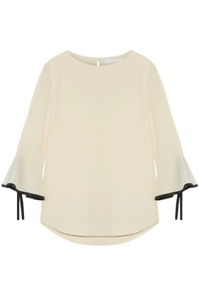 CHLOÉ Fluted silk crepe de chine blouse