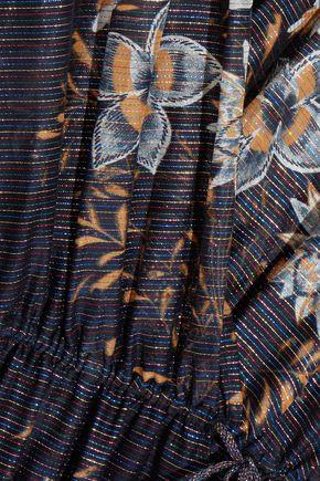 CHLOÉ Metallic floral-print cotton-blend jumpsuit