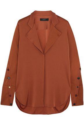 ELLERY Explosive silk-blend crepe de chine shirt