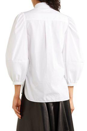 ALEXANDER MCQUEEN Pleated cotton-poplin shirt