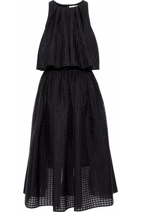 SACHIN & BABI Layered cutout voile midi dress