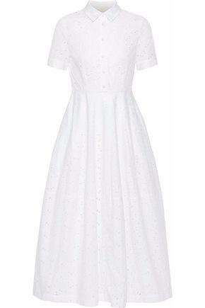 CO Broderie anglaise cotton-poplin midi shirt dress