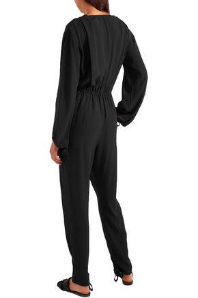 CHLOÉ Tassel-trimmed crepe jumpsuit
