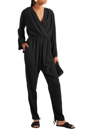 a820914d638 CHLOÉ Tassel-trimmed crepe jumpsuit