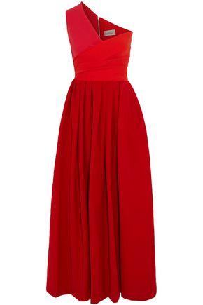 PREEN by THORNTON BREGAZZI April one-shoulder pleated crepe midi dress