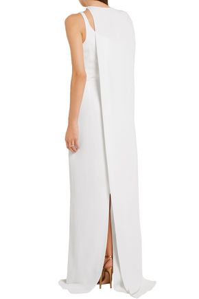 STELLA McCARTNEY Mirabella cape-back stretch-cady gown