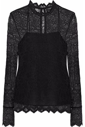 THEORY Layered corded lace top