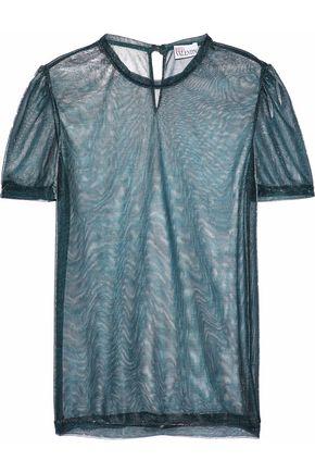 REDValentino Metallic mesh top