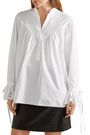CHLOÉ Broderie anglaise-trimmed cotton-poplin blouse