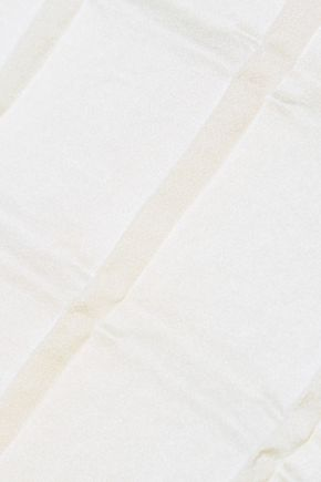 THE ROW Bela pleated crepe de chine top