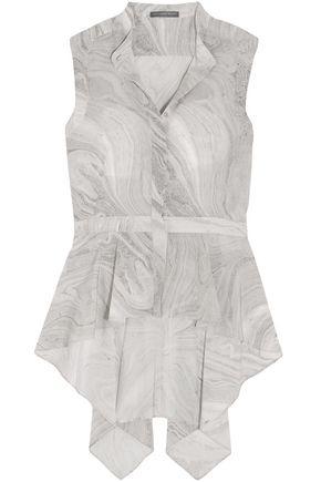 STELLA McCARTNEY Ruffled printed silk top