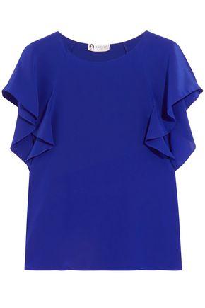 LANVIN Ruffled silk blouse